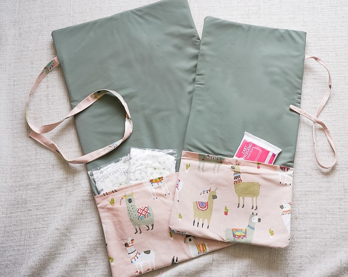 Featured listing image: babies&minis changing bag and wrap pad 2in1