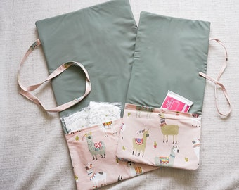 babies&minis changing bag and wrap pad 2in1