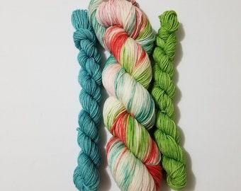 DTO - This Thing Called Love Sock Set, Hand Dyed Yarn, Indie Dyed Yarn, Sock Yarn, Shawl yarn, Knitting, Crochet, Merino, Nylon,