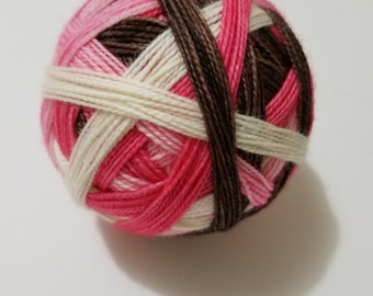 Saving All My Love Self-Striping, Hand Dyed Yarn, Self Striping, Sock Yarn, Self-Striping Sock Yarn, Merino, Nylon, Dye to Order,