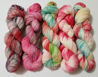 DTO - 2019 Valentine Collection, Hand Dyed Yarn, Indie Dyed Yarn, Sock Yarn, Shawl yarn, Knitting, Crochet, Merino, Nylon,