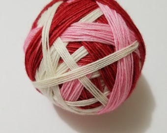Is This Love Self-Striping, Hand Dyed Yarn, Self Striping, Sock Yarn, Self-Striping Sock Yarn, Merino, Nylon, Dye to Order,