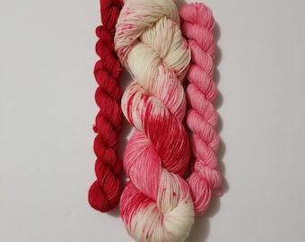 DTO - Love Me Sock Set, Hand Dyed Yarn, Indie Dyed Yarn, Sock Yarn, Shawl yarn, Knitting, Crochet, Merino, Nylon,