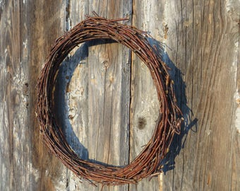 Easter Door Wreath Rustic Easter Decor Simple Rustic Wreath Birch Branches Wreath Spring Home Decor Base Natural Wreath Natural Material Art