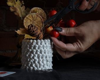 Skull Planter Vase / Catacomb Make Up Brush Holder