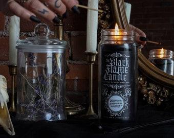 Black Flame Candle / Black jar Candle