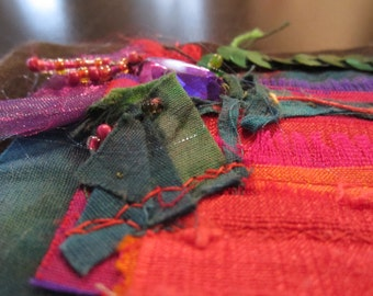 Bright Celebration Textile / Fabric Handmade Card