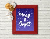 Merry and Bright, Printable Christmas Art