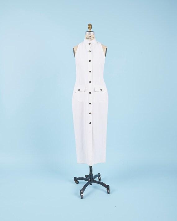 Linen White Dress
