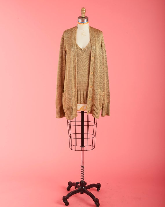 Gold Linen Sweater Set