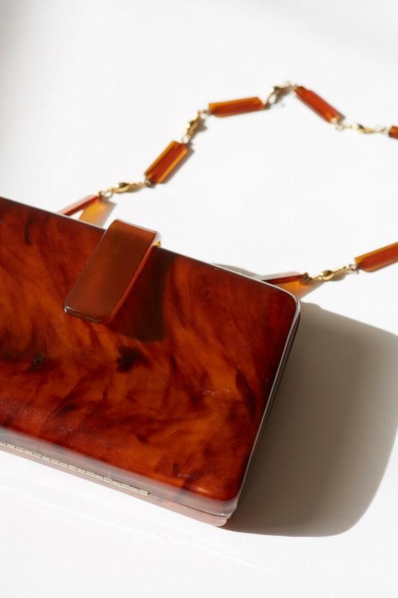 Tortise pattern lucite Shoulder Bag