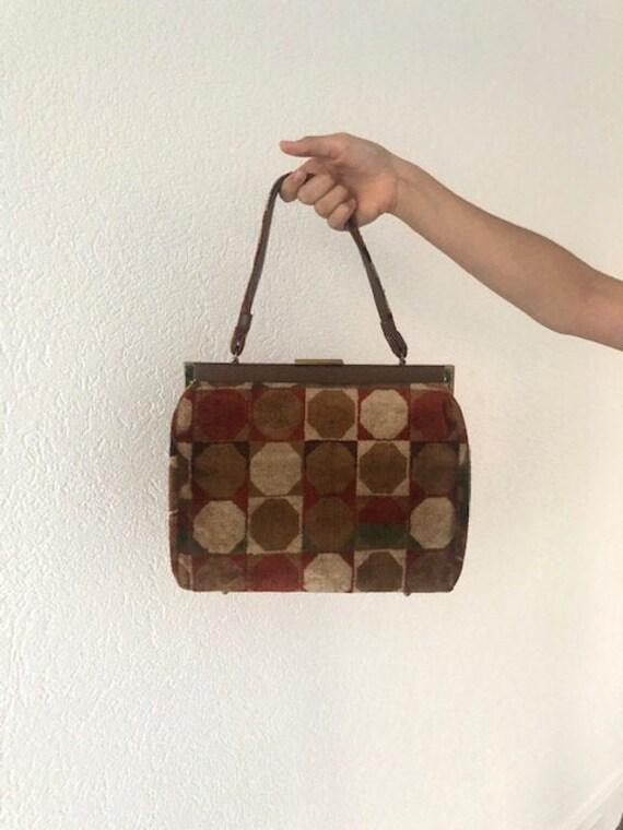 Darling Geometric Carpet Bag