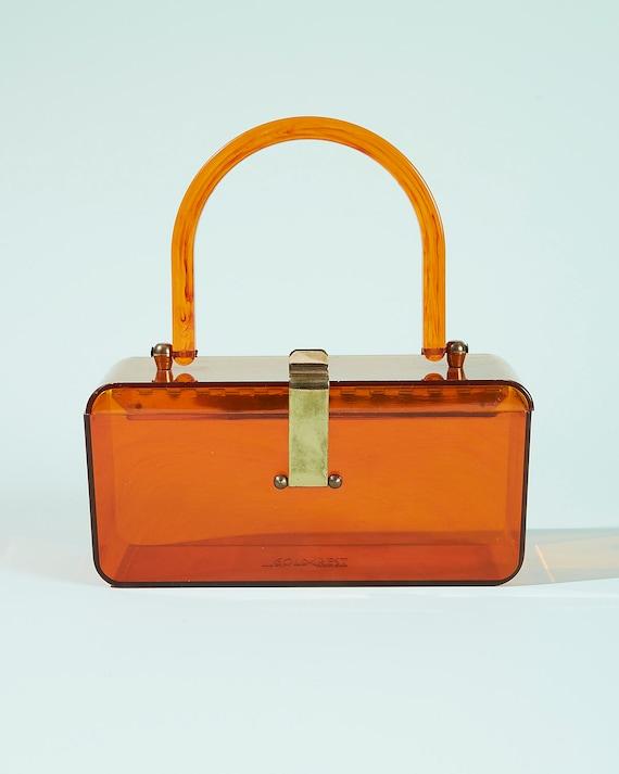 Amber Lucite Box Bag