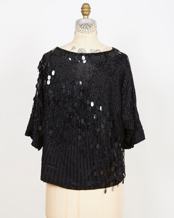 Oleg Cassini Sequin Top