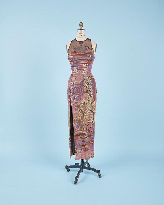 Mesh Metal Backless Dress