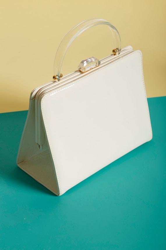 White Patent Bottega Veneta Handbag