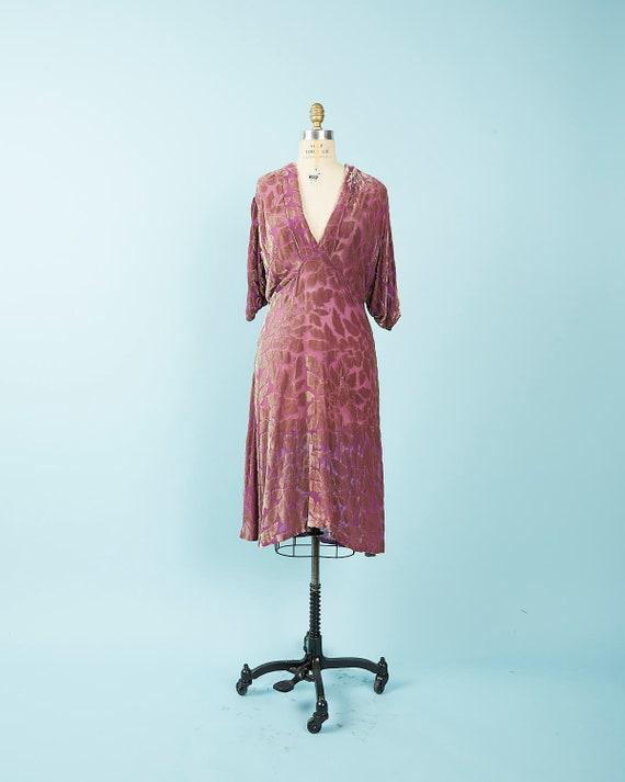 Purple Velvet Burnout Dress