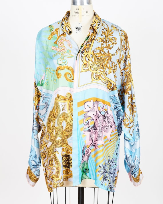 Versace silk oversized shirt