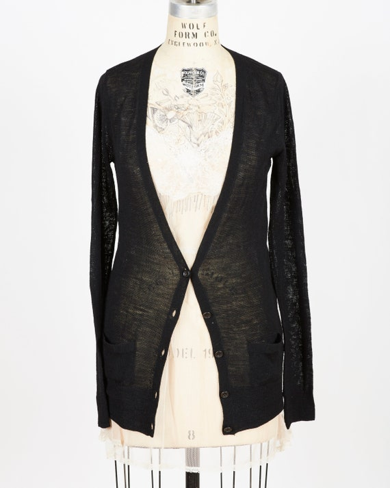 Sacai Sheer Black Cardigan