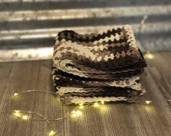 Crocheted dish cloths set of 3