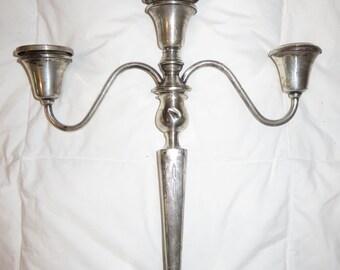 Sterling silver candelabra