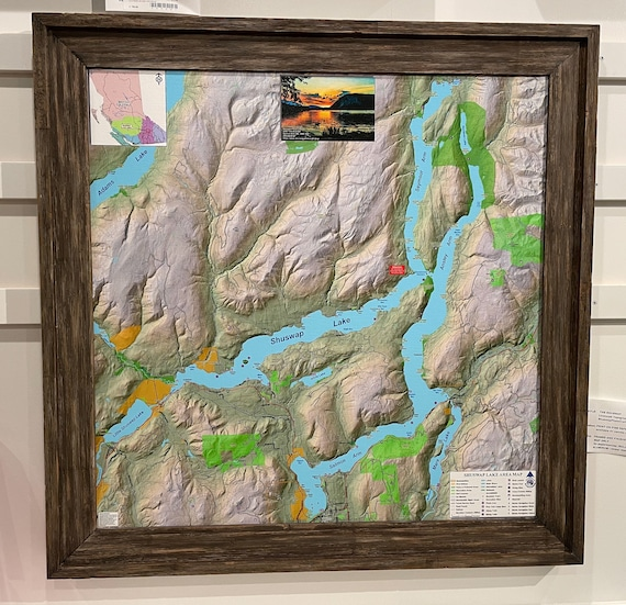 Topographical Map Puzzle of The Shuswap