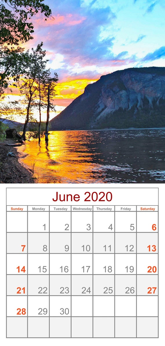 2020 Shuswap Calendar Re-fill