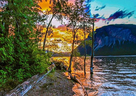 High Water Sunset Canoe