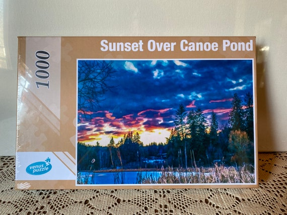 Puzzle Sunset Over Canoe Pond