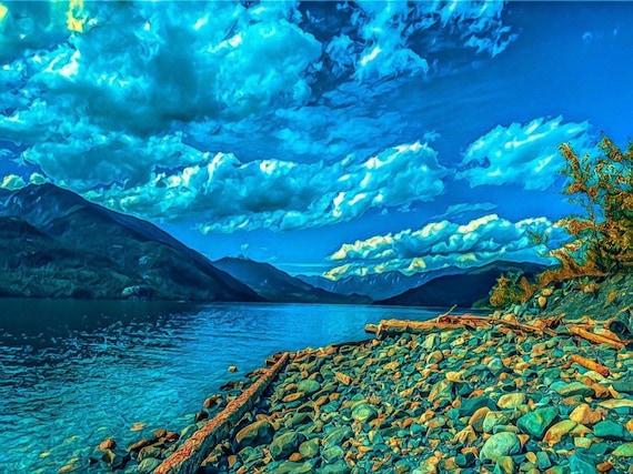 Rocks Water Mountains