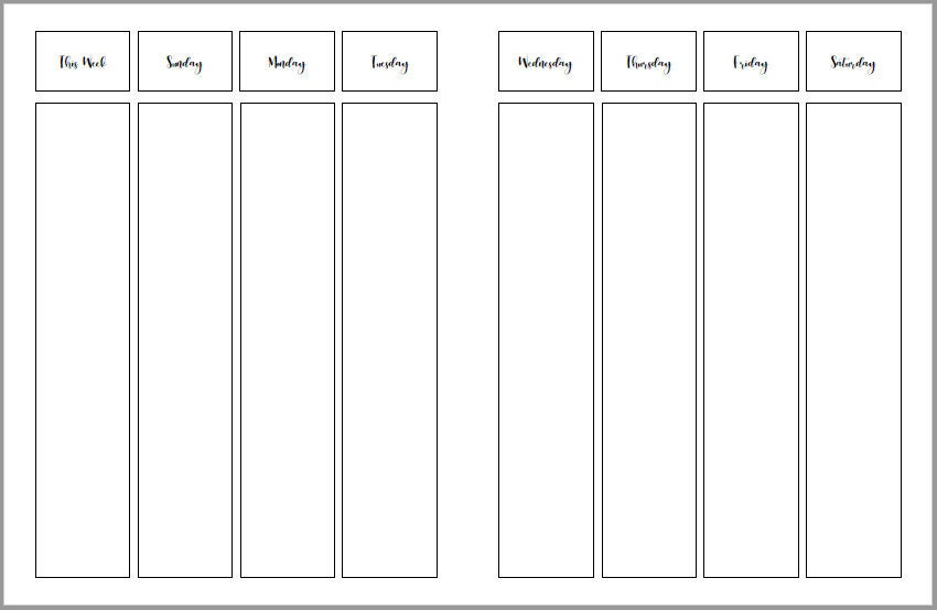 build a planner weekly calendar pages sunday start custom