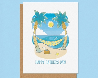 Tropical Hammock Paradise Father's Day Card