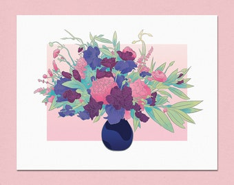 Wildflower Bouquet Fine Art Print