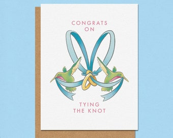 Congrats on Tying the Knot Greeting Card