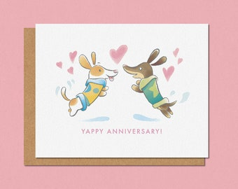 Yappy Anniversary Greeting Card