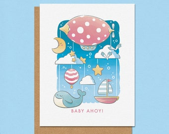 Baby Ahoy Greeting Card