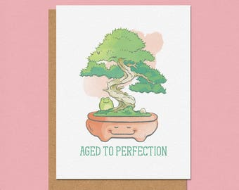 Birthday Bonsai Greeting Card