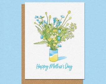 Happy Mother's Day Wildflower Bouquet Greeting Card