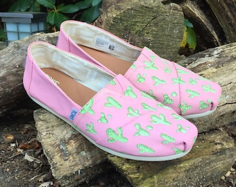 Custom Hand Painted Cactus TOMS Shoes