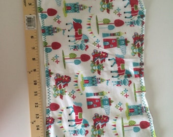 Castle, knights and Dragons Burp cloth