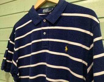 446e92a5d VINTAGE RL POLO  vintage  Vintage clothing  Vintage polo  Ralph Lauren  Plus  Size  unisex  Vintage for men blue Polo