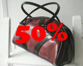 Bag PIN UP//Red & Black//vintage//Vintage bag//gift for woman//women//Vintage clothing//60s
