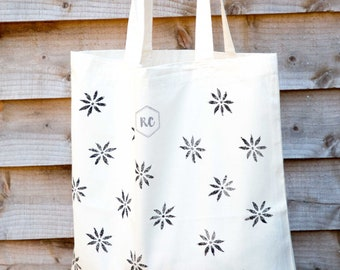 Daisy cotton tote bag
