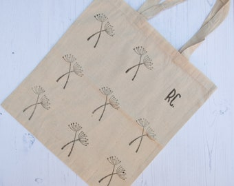 Cowparsley cotton tote bag