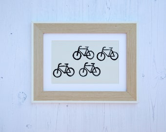 Bicycle mounted fabric print
