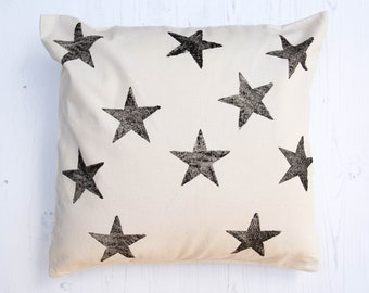 Star Pattern Block Printed Cushion