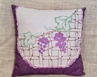 Dresser Scarf Pillow - Grapes