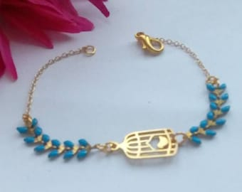 Bracelet with bird cages pattern