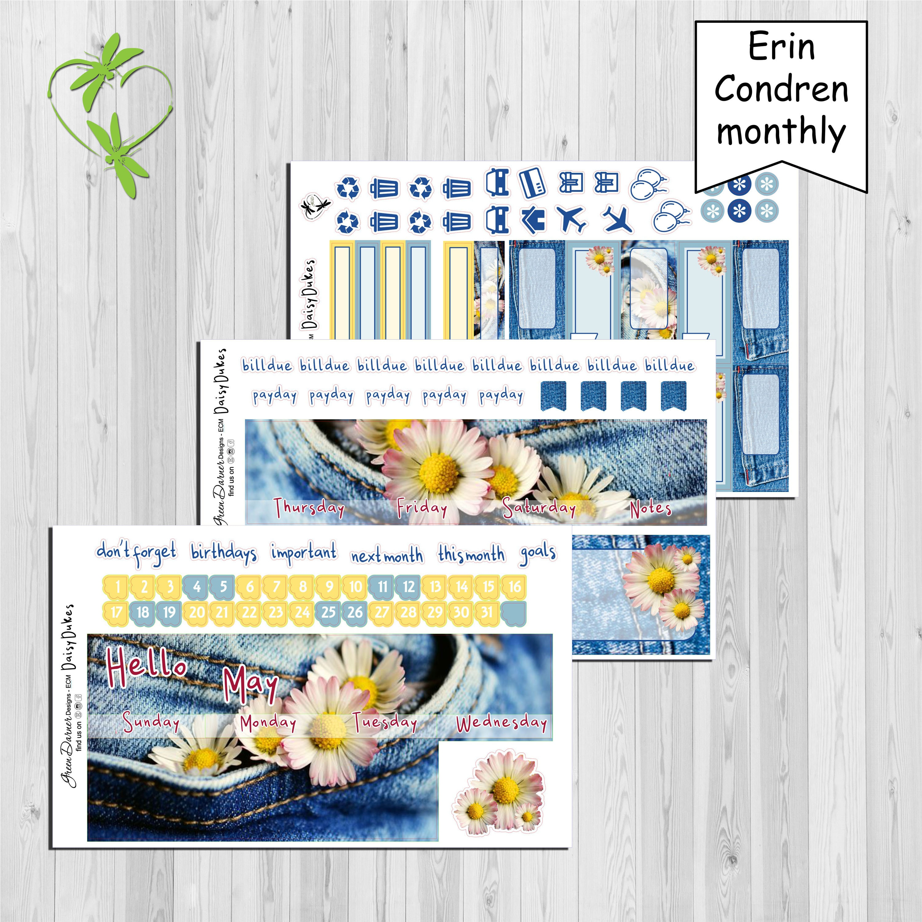 b9fd2f8f8 May 2019 Erin Condren Daisy Dukes monthly view planner | Etsy