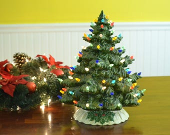 "20"" Light Ceramic Fir Tree"